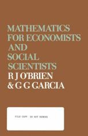 Mathematics for Economists and Social Scientists