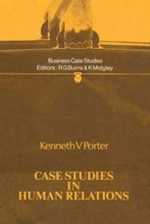 Case Studies in Human Relations