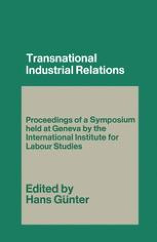 Transnational Industrial Relations
