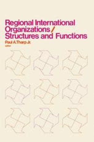Regional International Organizations / Structures and Functions