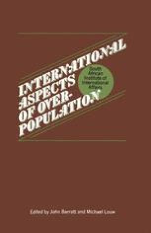 International Aspects of Overpopulation