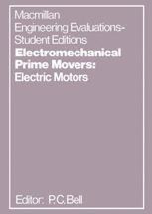 Electromechanical Prime Movers: Electric Motors