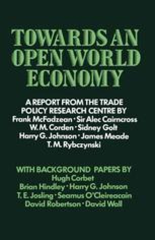 Towards an Open World Economy