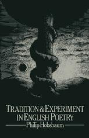 Tradition and Experiment in English Poetry