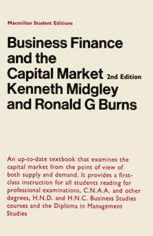 Business Finance and the Capital Market