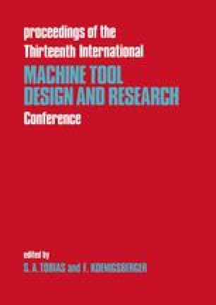Proceedings of the Thirteenth International Machine Tool Design and Research Conference