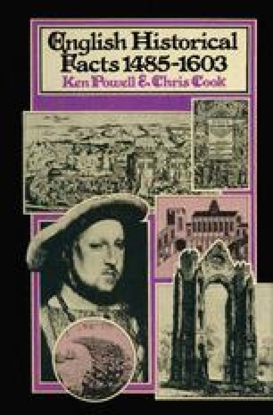 English Historical Facts 1485–1603