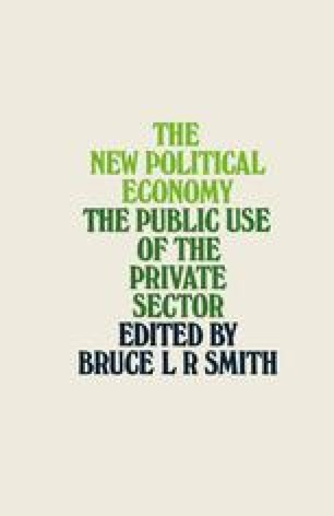 The New Political Economy: The Public Use of the Private Sector
