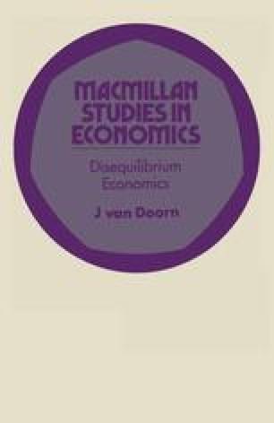Disequilibrium Economics