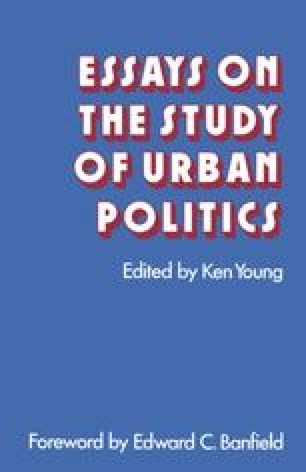 Essays on the Study of Urban Politics