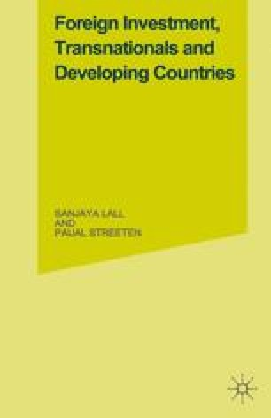 Foreign Investment, Transnationals and Developing Countries