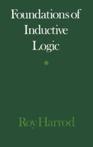 Foundations of Inductive Logic