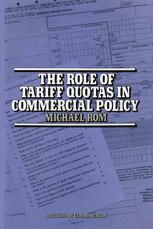 The Role of Tariff Quotas in Commercial Policy