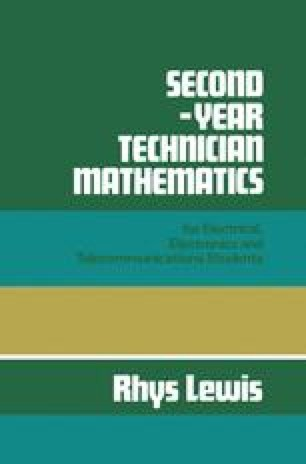 Second-year Technician Mathematics for Electrical, Electronics and Telecommunications Students