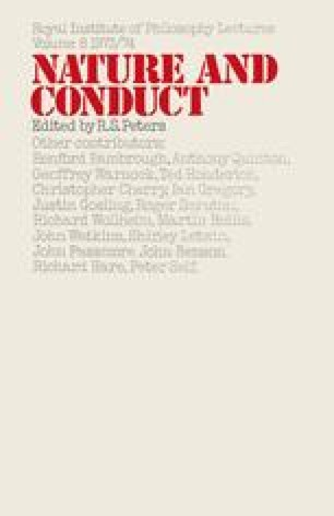 Nature and Conduct