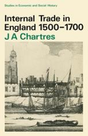 Internal Trade in England 1500–1700