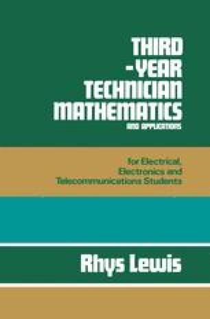 Third-year Technician Mathematics and Applications