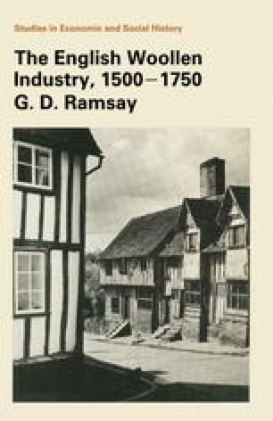 The English Woollen Industry 1500–1750