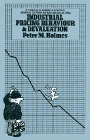 Industrial Pricing Behaviour and Devaluation