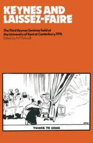 Keynes and Laissez-Faire