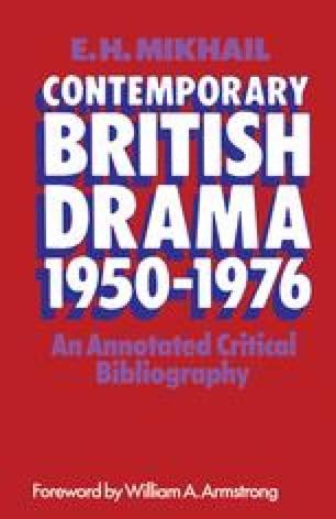 Contemporary British Drama 1950–1976