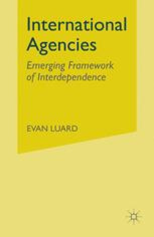 International Agencies: The Emerging Framework of Interdependence