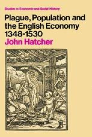 Plague, Population and the English Economy 1348–1530