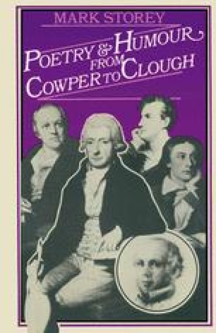 Poetry and Humour from Cowper to Clough