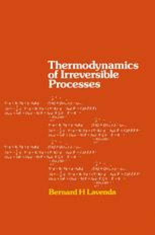 Thermodynamics of Irreversible Processes
