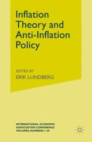 Inflation Theory and Anti-Inflation Policy