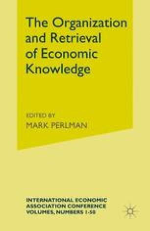 The Organization and Retrieval of Economic Knowledge