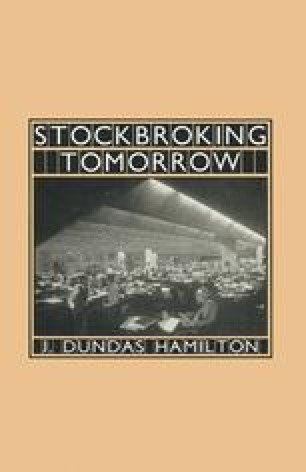 Stockbroking Tomorrow