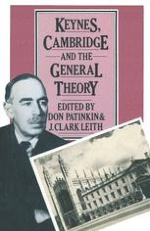 Keynes, Cambridge and The General Theory