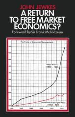 A Return to Free Market Economics?