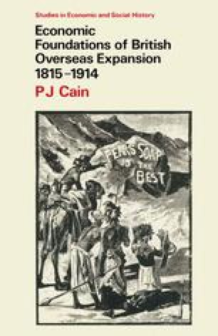 Economic Foundations of British Overseas Expansion 1815–1914