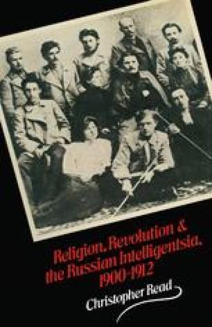 Religion, Revolution and the Russian Intelligentsia 1900–1912
