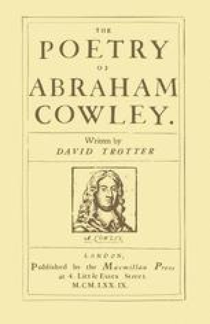 The Poetry of Abraham Cowley