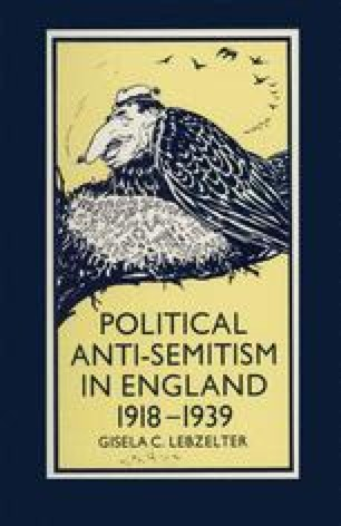 Political Anti-Semitism in England 1918–1939