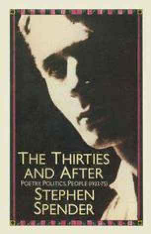 The Thirties and After