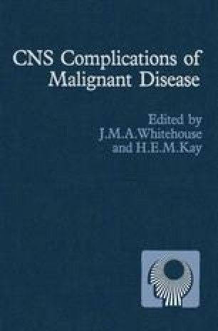 CNS Complications of Malignant Disease