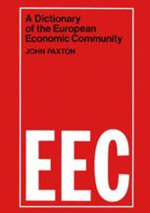A Dictionary of the European Economic Community