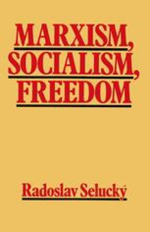 Marxism, Socialism, Freedom