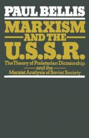 Marxism and the U.S.S.R.