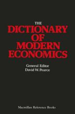 The Macmillan Dictionary of Modern Economics