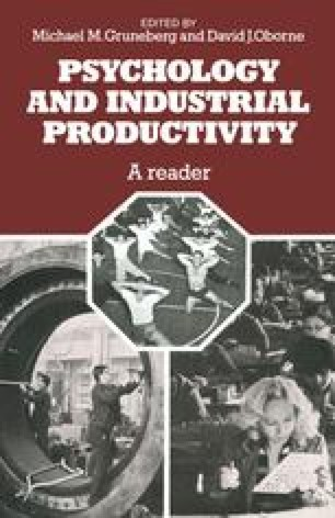 Psychology and Industrial Productivity