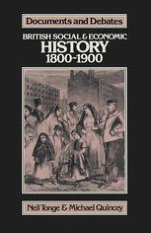 British Social and Economic History 1800–1900