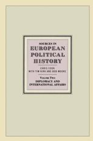 Sources in European Political History