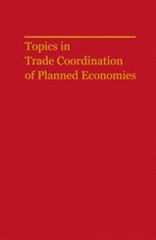 Topics in Trade Coordination of Planned Economies