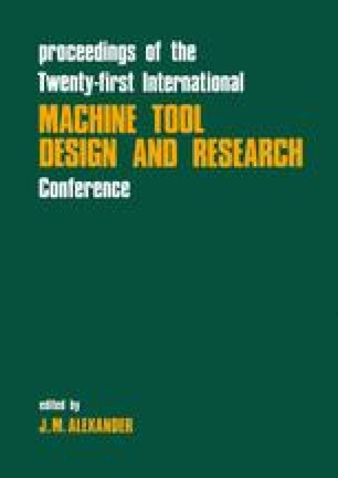 Proceedings of the Twenty-First International Machine Tool Design and Research Conference