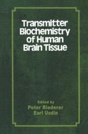 Transmitter Biochemistry of Human Brain Tissue
